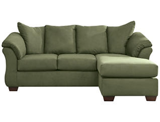 COLORS Sofa Chaise, Sage, large