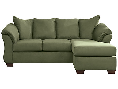 Colors Sofa Chaise Stone Sage Large