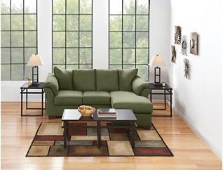 COLORS Sofa Chaise, Sage, large