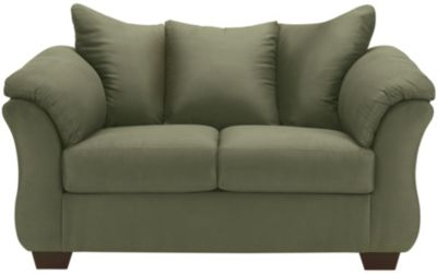 COLORS Loveseat, Stone, Green, swatch