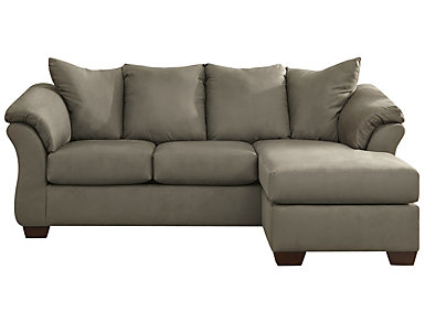 COLORS Sofa Chaise, Stone, Beige, large