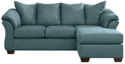 COLORS Sofa Chaise, Sky Blue, swatch