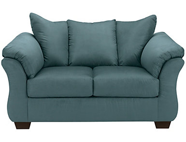 COLORS Loveseat, Blue, Blue, large