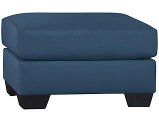 COLORS Blue Ottoman, , large