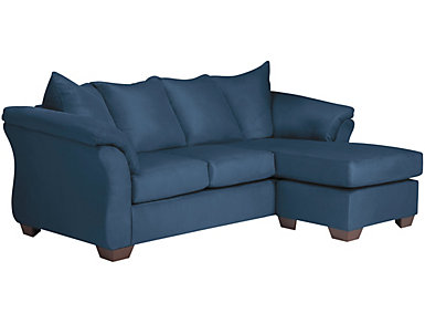 Colors Sofa Chaise, Blue, , large