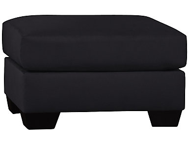 COLORS Black Ottoman, , large