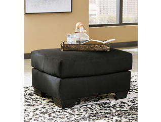 COLORS Black Ottoman, Black, large