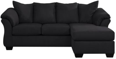 COLORS Sofa Chaise, Black, swatch
