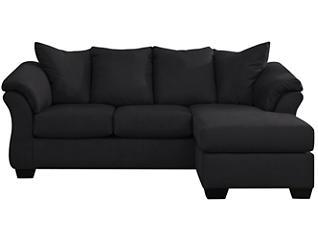 COLORS Sofa Chaise, Black, large