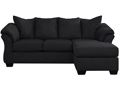 COLORS Sofa Chaise, Stone, Black, large