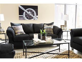 COLORS Black Sofa, Black, large