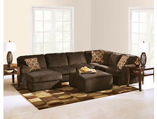 Lunar Chocolate 3 Piece Sectional with Left-Arm Facing      Chaise, , large