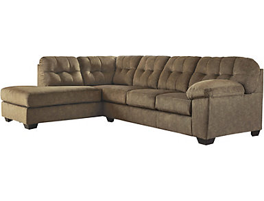 Afton 2 Piece Left-Arm Facing Sectional, Brown, , large