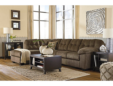 Afton Brown 2 Piece Left-Arm Facing Sectional, , large
