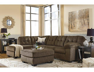 Afton Earth 2-Piece Sectional with Left-Arm Facing Chaise & Cocktail Ottoman Set, , large