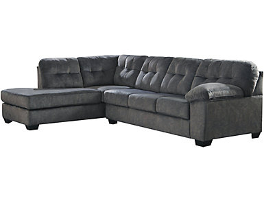 Afton 2 Piece Left-Arm Facing Sectional, Granite, , large