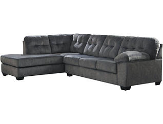 Afton Granite 2 Piece Sectional with Left-Arm Facing Chaise, Cocktail Ottoman & Rocker Recliner Set, , large