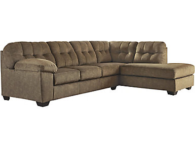 Afton 2 Piece Right-Arm Facing Sectional, Brown, , large