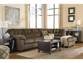 Afton Earth 2 Piece Sectional with Right-Arm Facing Chaise, , large