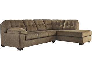 Afton Earth 2 Piece Right Arm Facing Sectional, Ottoman & Recliner, , large