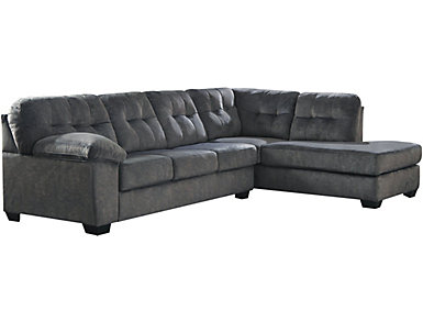 Afton 2 Piece Right-Arm Facing Sectional, Granite, , large