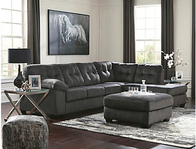 Afton Granite 2 Piece Right-Arm Facing Sectional, , large