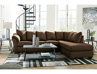COLORS Cafe 2 Piece Sectional with Right Arm Facing Chaise, , large