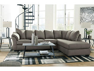COLORS Cobblestone 2 Piece Sectional with Right Arm Facing   Chaise, , large