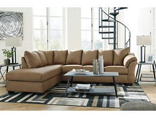 COLORS Mocha 2 Piece Sectional with Left Arm Facing Chaise, , large
