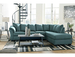 COLORS Sky 2 Piece Sectional with Right Arm Facing Chaise, , large