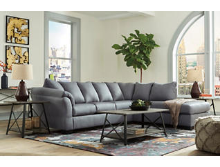 COLORS Steel 2 Piece Sectional with Right Arm Facing Chaise, , large