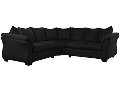 COLORS Sectional, Black, , large