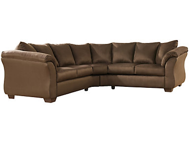 COLORS Sectional, Stone, Chocolate, large