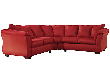 Red Reclining Sofa Microfiber Sofas Couches Ashley
