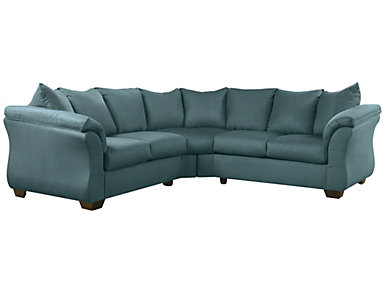 COLORS Sectional, Sky Blue, Sky Blue, large