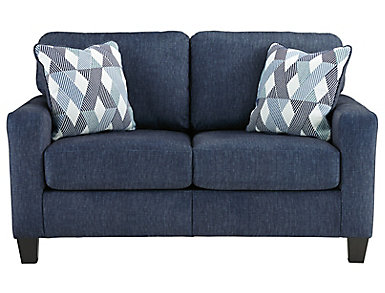 Winslow Ready-to-Assemble Loveseat - Navy, , large
