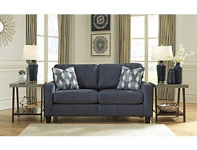 Winslow Navy Sofa, , large