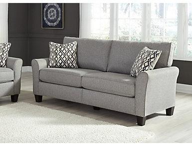 Abra Pewter Sofa, , large