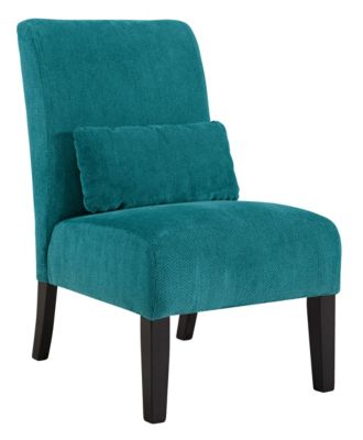 ... Ashley Furniture Annora Armless Accent Chair, Teal, Swatch ...