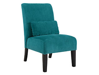 Ashley Furniture Annora Armless Accent Chair, Teal, , large