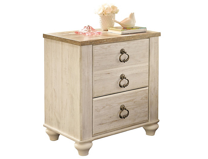 8c65d4d77c8 Willowton 2 Drawer Nightstand
