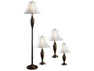 Caron Brass Set of 4 Lamps, , large