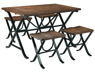Ivy 5 Piece Dining Table Set, , large