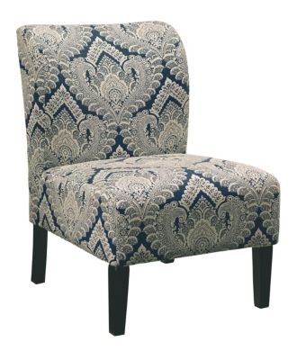 Honnally Armless Chair, Blue and Brown, Blue, swatch