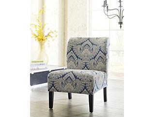 Honnally Blue Armless Chair, Blue, large