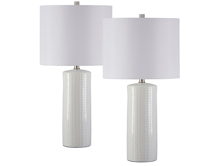 Jordan White Lamp Set of 2, , large
