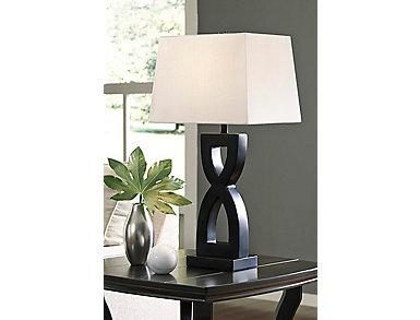 Dane Black Table Lamp (Set of 2), , large