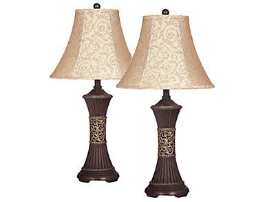 Billings Bronze Lamp Set of 2, , large