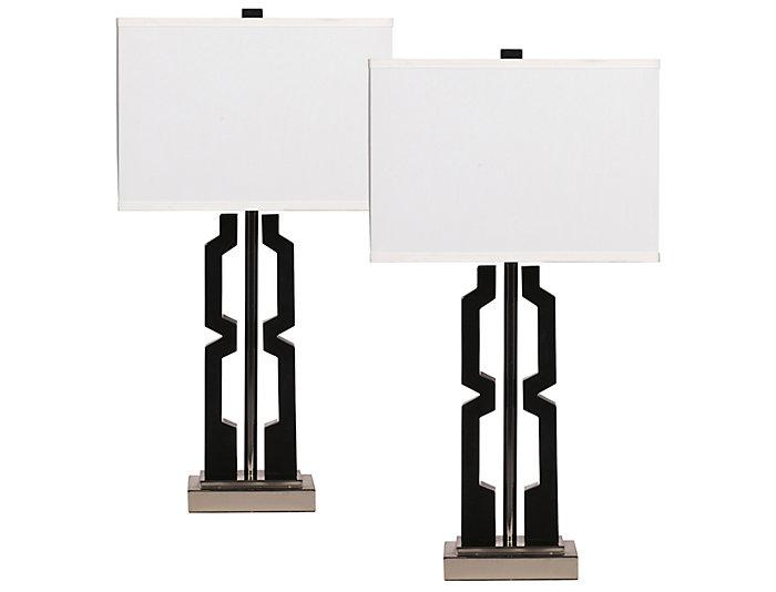 Dillon Black Lamp Set of 2, , large