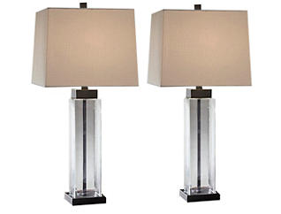 Burke 2-Pack Glass Table Lamp, , large